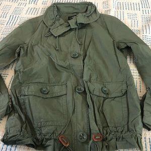 J. Crew ruffle neck field jacket - XS